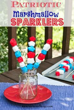 Patriotic Marshmallow Sparklers