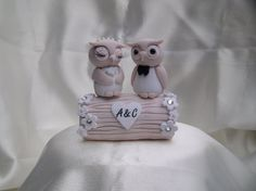 Wedding owls on a log cake topper by 2sweetformedear on Etsy, $46.00 http://www.etsy.com/listing/96702444/wedding-owls-on-a-log-cake-topper?ref=sr_gallery_43_search_type=handmade_includes%5B0%5D=tags_search_query=owl+wedding+cake+topper_view_type=gallery