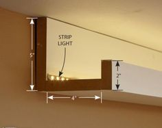Foso Luz Indirecta Cove Lighting Ceiling, Ikea Lighting, Garage Lighting,  Led Hallway Lighting