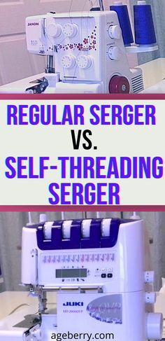 """Learn all about self-threading sergers. In this sewing tutorial I'll explain what the types of self-threading overlockers are, which brands have them, and what machines I recommend if you are eager to add one to your collection (as I was!). This technology is fairly new, and different brands define """"self-threading"""" differently."""