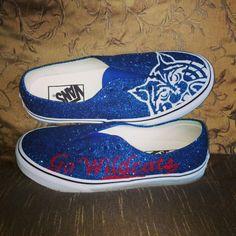 Www.etsy.com/shop/ceriseisabellamarie  #custom #handpainted #glitter #vans #uofa #arizona #wildcats #red #blue #white #glitter are always #betterthanaglassslipper :D #beardown ❤