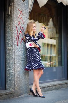 seeing spots in Milan. Street Style, Street Look, Fashion Editor, Fashion Show, Milan, Ace Of Hearts, N21, Ootd, Feminine Style