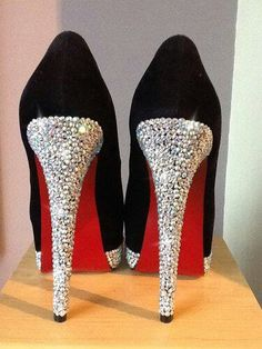 Red soles and sparkles #shoes