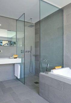 """Résultat de recherche d'images pour """"baignoire + douche cote à cote"""""""