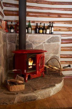 Wood Stove Hearth Design Ideas, Pictures, Remodel and Decor