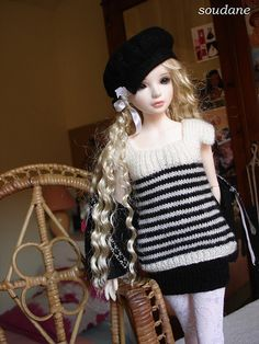 Domino outfit for bjd msd Tania Iplehouse | Flickr - Photo Sharing!