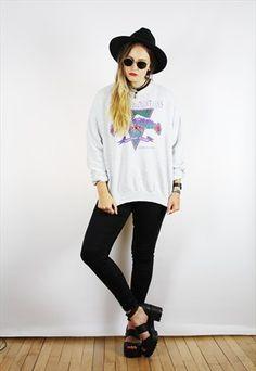 Vintage+90s+Retro+Grey+Purple+USA+Print+Sweatshirt+Jumper