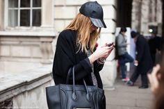 baseball hats at paris fashion week.