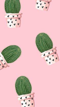 Wallpaper fond d'écran portable love cœur heart amour amor Valentine's day Saint Valentin cactus