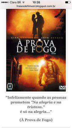 Filme: A prova de fogo #Amo ❤️ Vale a pena assistir!! 😉