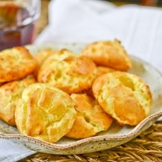 Classic French cheese puffs, made here with Canadian cheddar instead of Gruyere to save some pennies - still fantastic!