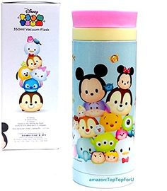 Disney Tsum Tsum Stainless Steel Vacuum Flask Thermos Water Bottle *** To view further, visit https://www.amazon.com/gp/product/B019CKI3JI/?tag=homeimprtip08-20&pab=110816224554