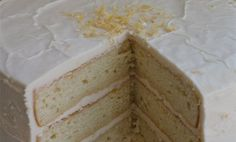 franish nonspeaker: The Best Laid Plans: Lemon Cream Cake Lemon Cream Cake, More Cupcakes, Lemon Curd, Let Them Eat Cake, Vanilla Cake, Frosting, The Best, Cake Recipes, Sweet Treats