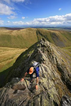 Sharp Edge on Blencathra, Lake District, Cumbria, England by Gary Turnbull