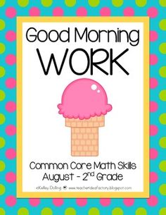 Good Morning Work - Reading - August (2nd Grade).  Common core aligned.