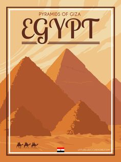 EGYPT ...GIZA ..Pyramids and Sphynx ..Vintage TWA Travel Poster A2A3A4Sizes