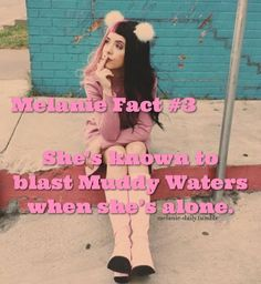 Another Melanie fact! (My edit. Please give credit and don't remove my caption 💗) Melanie Martinez Facts, Melanie Martinez Outfits, She Song, Cry Baby, American Singers, Celebrity Crush, Caption, Love Her, Queens