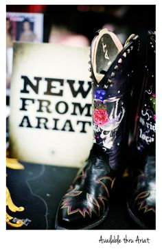 The NEW Ariat Gypsy Soule boots! May have to goodbye to the FatBaby's for these!!