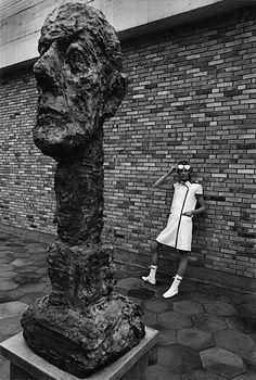 Andre Courrèges, photo by Jean Louis Sieff, Fondation Maeght, Saint Paul de Vence, 1965