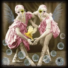 "Digital Art by *Silkku* Circus sisters"" silkkus.blogspot.fi"