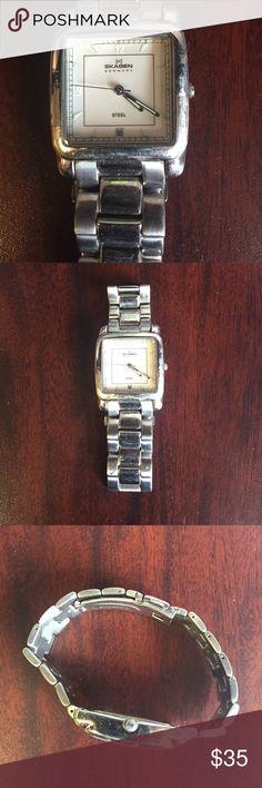 Skagen Denmark Stainless Silver, water resistant men's Skagen watch.  Needs a new battery. Skagen  Accessories Watches