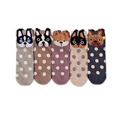 [Cosplacool] nuove donne belle macchie cani calzini cute cartoon summer sudcoreano di stile di modo di stampa del cotone calzini del tubo