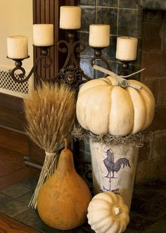 New House: Fall Mantel