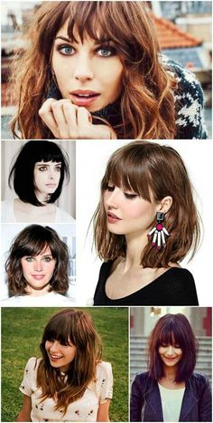 Modernizando-os-cabelos-com-corte-de-franjinha. Medium Hair Cuts, Medium Hair Styles, Short Hair Styles, Love Hair, Great Hair, Hairstyles With Bangs, Pretty Hairstyles, Summer Hairstyles, Bad Hair