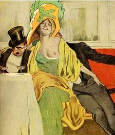 By Marcello Dudovich, 1 9 1 0, from the album Corso Liberty (nudo/donna). (I)