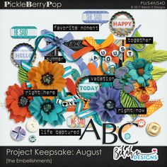 Project Keepsake: August - the Embellishments By Bekah E Designs