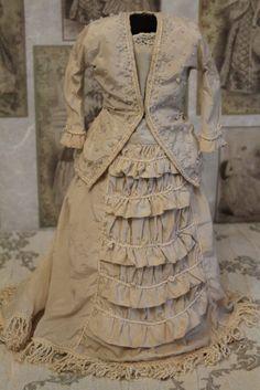 "Pretty Antique vintage French fashion Poupee doll 18-20"""