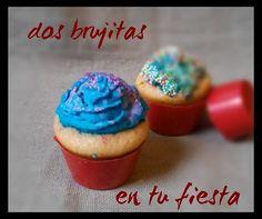 Cupcakes de avellana en capsulas de chocolate de frambuesa
