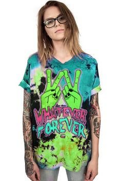 WHATEVER FOREVER - CUSTOM UNISEX TIE DYE