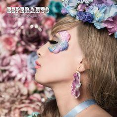 紫陽花の花びらを使ったアートメイク Make Up, Kawaii, Eyes, Creative, People, Hair, Photography, Inspiration, Dresses