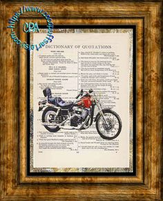 1980 Red FXWG WideGlide Harley Motorcycle Altered by CocoPuffsArt