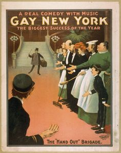 'Gay New York' poster design late 1890s/early 1900s