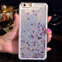 Liquid Glitter iPhone 7/7 Plus Case - Silver Más