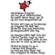 Billedresultat for mariehønen evigglad tekst og melodi Poems, Childhood, Sang, Fictional Characters, Musik, Infancy, Poetry, Verses, Fantasy Characters