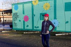 Allison at the Hope Mural in Vancouver, Washington