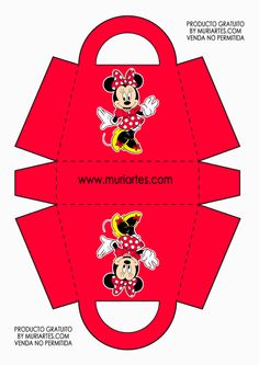 Minnie Mouse Birthday Decorations, Mickey Birthday, Mickey Party, Minnie Mouse Party, Mouse Parties, Mickey Mouse Toys, Mickey E Minie, Diy Gift Box, Paper Gift Bags