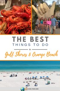 Awesome things to do in Gulf Shores & Orange Beach, Alabama: A starter guide to the beaches, great restaurants, and must see attractions. The beaches feature white sand that is cool to the touch. Take a long stroll on the beach and stop by the many restaurants for lunch or dinner. Take a day trip to Fairhope for shopping and the Wharf for entertainment. Check out our tips for your next trip | #gulfshores #usatravel #orangebeach