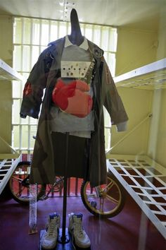 """A display at the Oregon Film Museum preserves the quirky costume and props used by the character Data in """"The Goonies."""""""