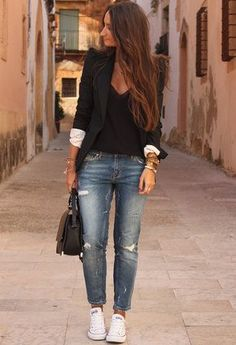LOVE THIS STYLE!!! Outfits with Blazers | Chicisimo find more women fashion on www.misspool.com