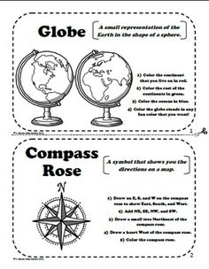 Worksheet Parts Of A Map Worksheet maps on pinterest