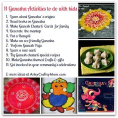 11 Ganesha Crafts & activities to do with kids | #IndiaCrafts #Ganesha #Ganapati #GaneshChaturti #Recipes #CraftsforKids #WorldCulture