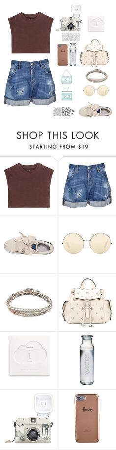 """8/10"" by nour20-17 ❤ liked on Polyvore featuring adidas Originals, Dsquared2, Victoria Beckham, Chan Luu, RED Valentino, Estella Bartlett, Lomography and Harrods"