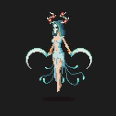 Dryad 2 by retroen on DeviantArt Pixel Art Gif, Anime Pixel Art, Pixel Art Games, Character Art, Character Design, Pix Art, Pixel Characters, Pixel Animation, 8 Bit Art