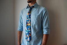 Batman Tie/ Handmade/ Neck Tie/ Superheros/ DC by HoldYourCrochet
