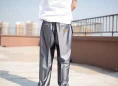 Baggy Silver Dance Pants