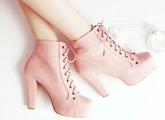 Girly Combat Boots